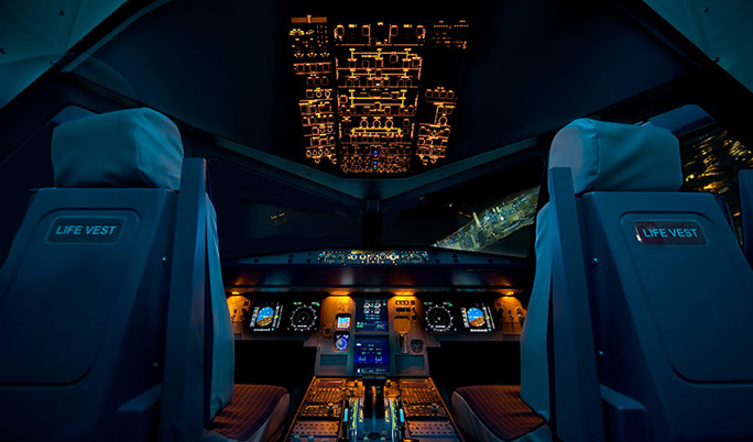 Flugsimulator Airbus 120 Minuten