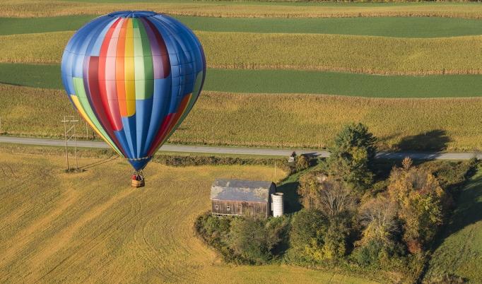 Ballonfahrt über Gotha