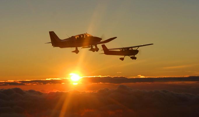 Rundflug für 3 Personen im Flugzeug