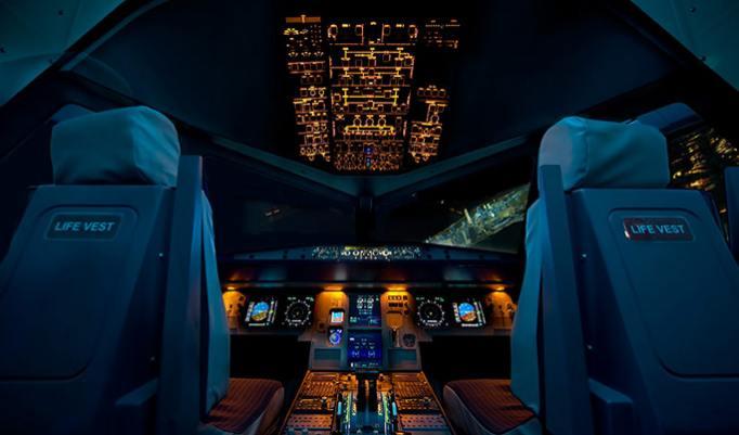 Zwei Stunden im Flugsimulator