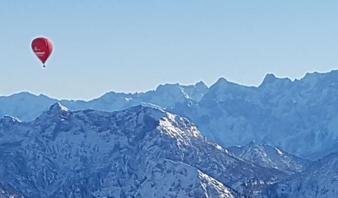 Gutschein für Alpenballonfahrt im Winter
