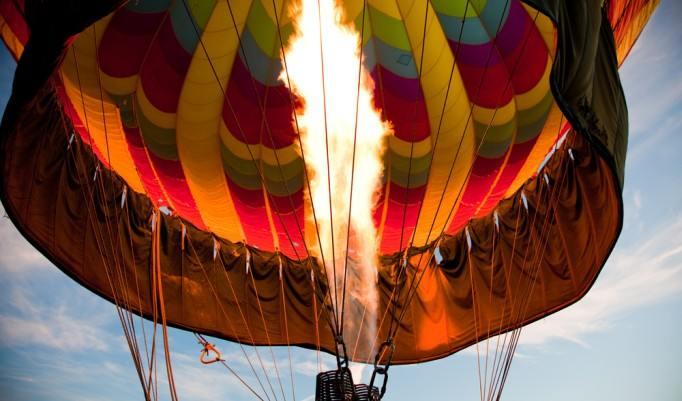 Start eines Heißluftballon in Bad Saarow