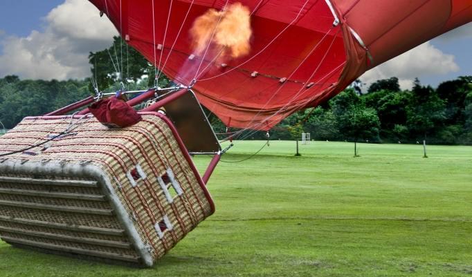 Ballon bei der Landung