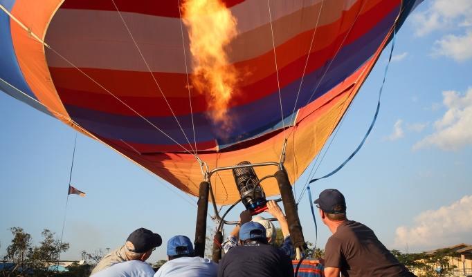 Start der Ballonfahrt über Bad Neustadt