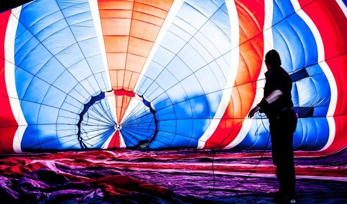 Heißluftballonfahrt in Kotzen
