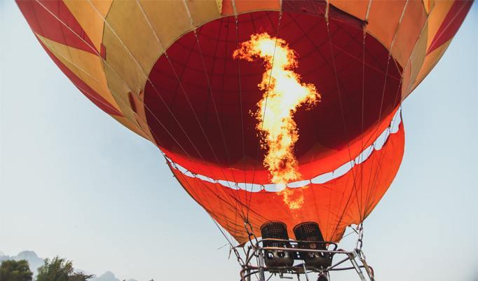 Heißluftballonfahrt in Spalt