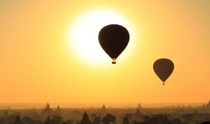 Ballonfahrt Abendsonne Roermond