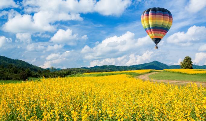 Heißluftballonfahrt in Sachsen