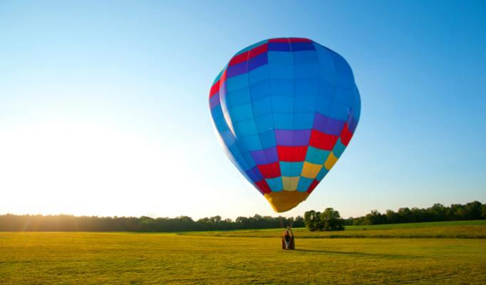 Aufsteigender Heißluftballon Eckernförde