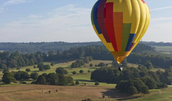 Ballonfahrt in Nieste Königsalm