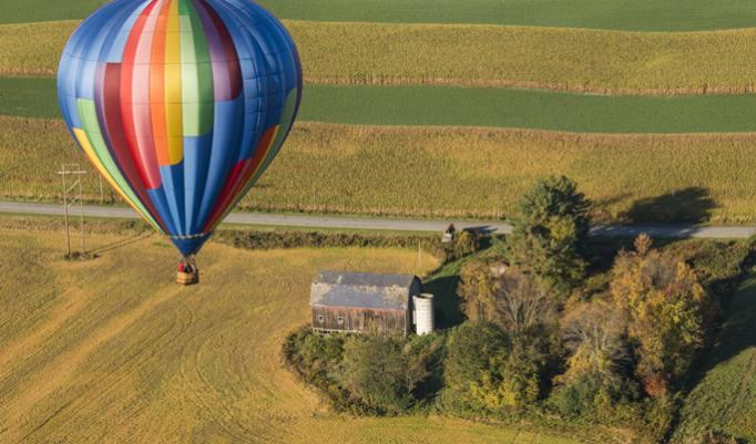 Ballonfahrt nur zu zweit entlang der Ostseeküste