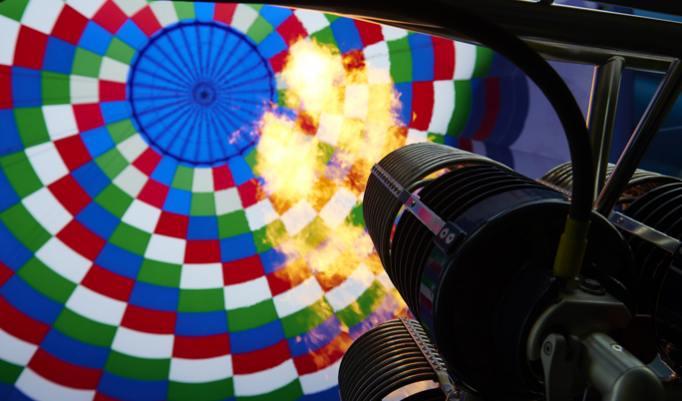 Heißluftballonfahrt in Byhleguhre-Byhlen