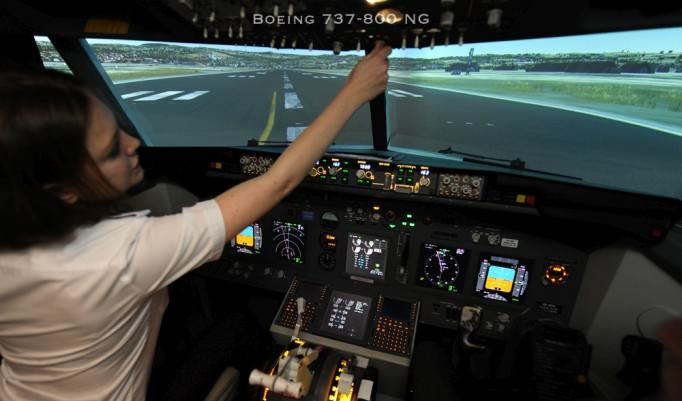 Flugsimulator Boeing 737 in Berlin