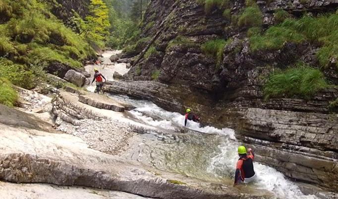 Wanderung durchs Wasser