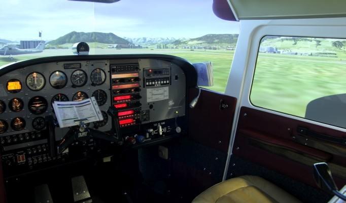 Blick über das Cockpit