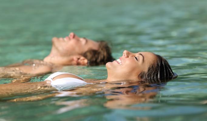 Floating mit Freunden
