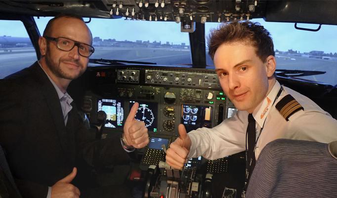 Spaß im Boeing Cockpit