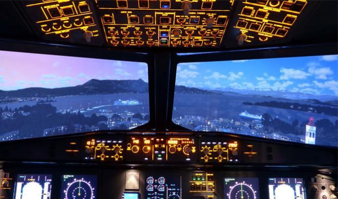 Flugsimulator Frankfurt Cockpit