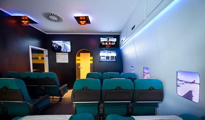 Flug im Airbus A320 begleiten