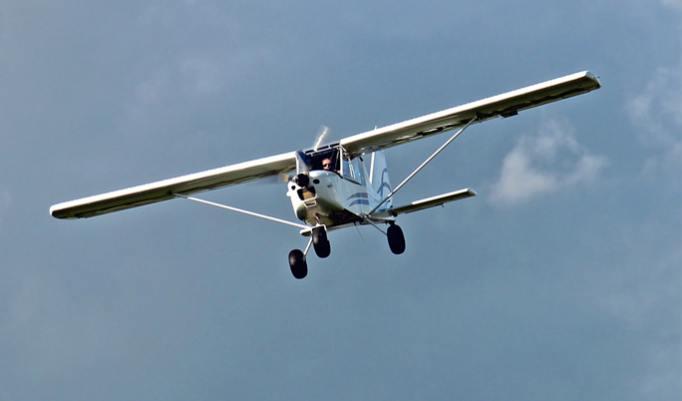 Flugzeug in Freiberg