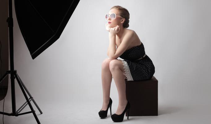 Fotoshooting im modernen Studio
