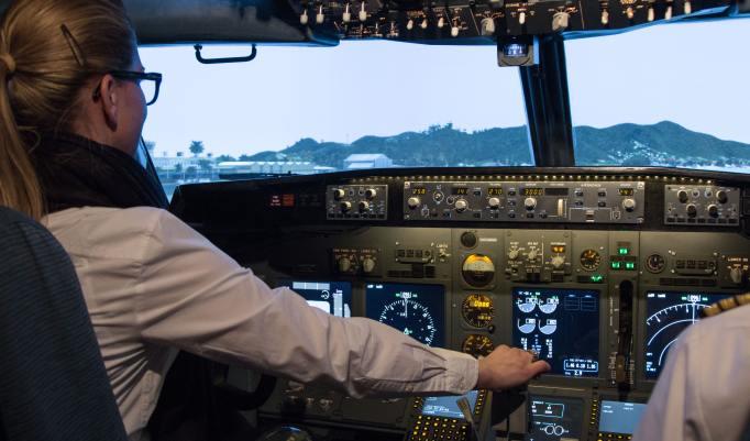 Flugsimulator Boeing 737 in Windeck