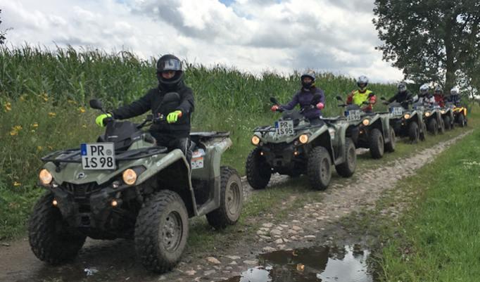 Gutschein für Quad Offroadtour in Groß Pankow verschenken