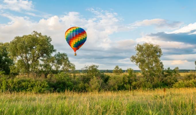 Ballonfahrt über Ilmenau
