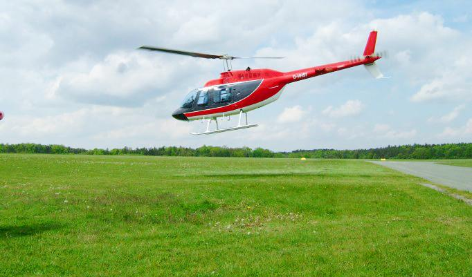 Hubschrauber selber fliegen - 20 Minuten in Bamberg