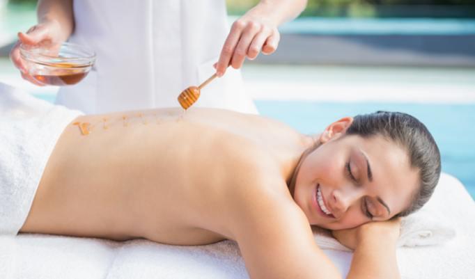 hautpflegende Massage