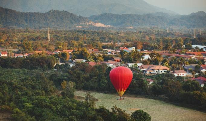 Heißluftballonfahrt in Heilsbronn