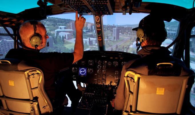 Einweisung durch Flightinstruktor