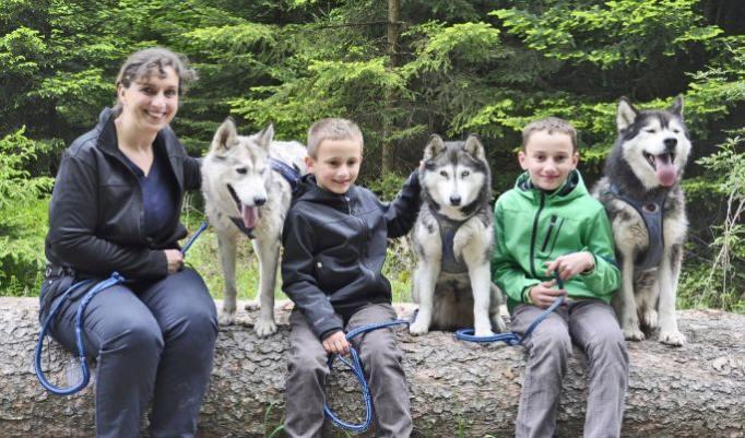 Große Wanderung mit Husky