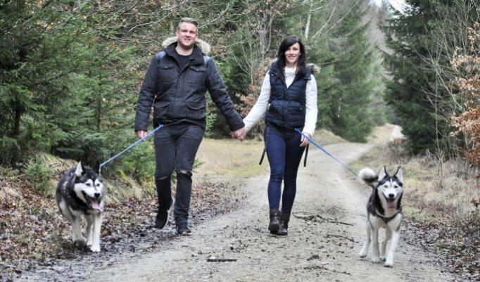 Familientag mit Schlittenhunden