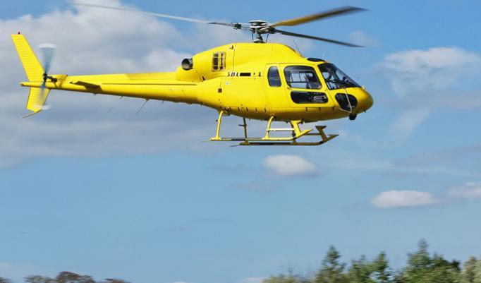 Im Hubschrauber über Köln