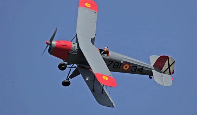 Jagdflugzeug in der Luft
