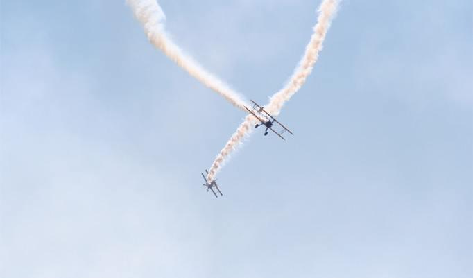 Doppeldecker Jagdflugzeug