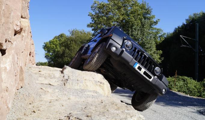 Jeep Wrangler Offroad fahren