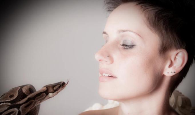 Fotos mit echten Schlangen