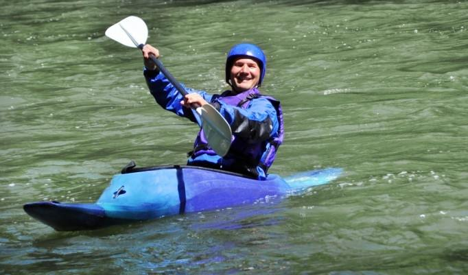 Spaß beim Kanu fahren