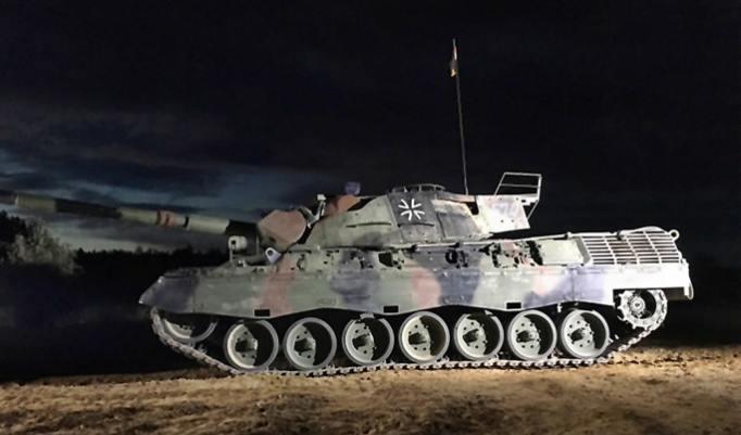 Kampfpanzer Leopard fahren