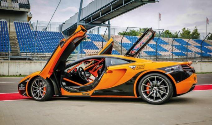 McLaren MP4 Rennstreckentraining