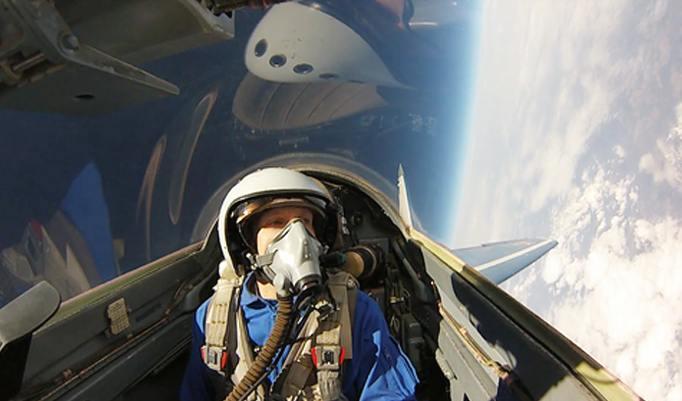 MIG Kampfflugzeug Innenansicht