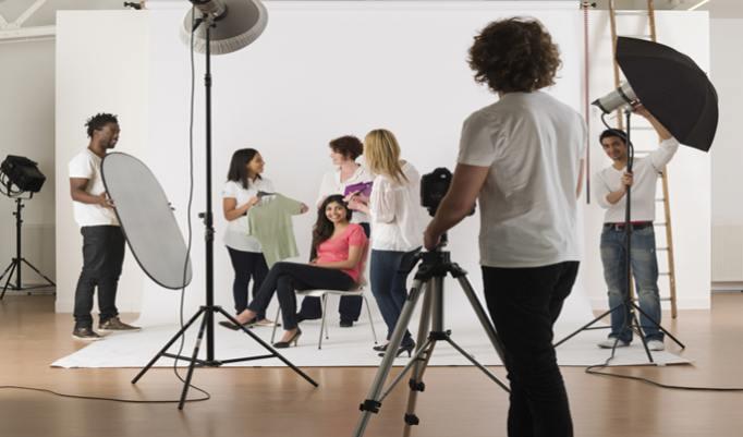Modelfotografie im Fotostudio