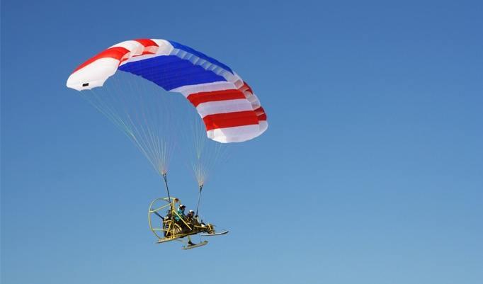Motorgleitschirm fliegen