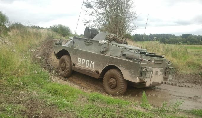 Panzer im Gelände