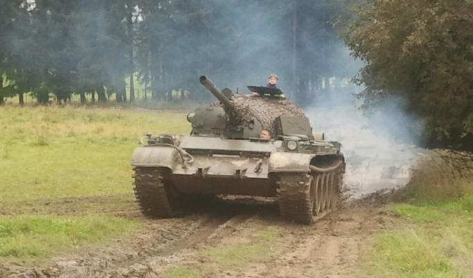 Panzer fahren T55 in Benneckenstein