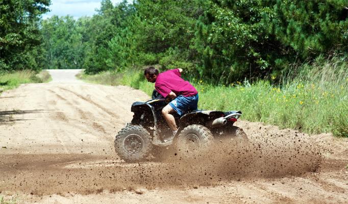 Spaß beim Quad fahren