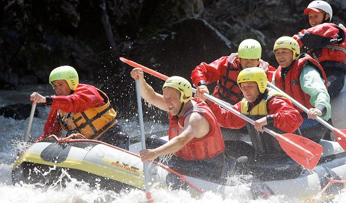 Rafting mit Gruppe