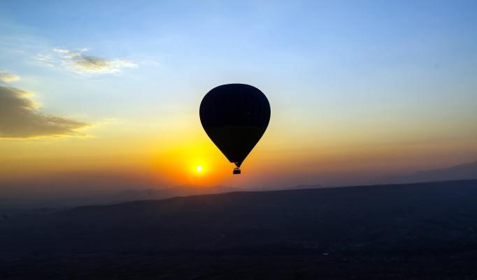 Ballonfahren am Morgen